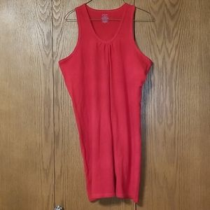 St. John's Bay Red Tank Top Dress Swim Coverup